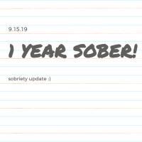 1 year sober